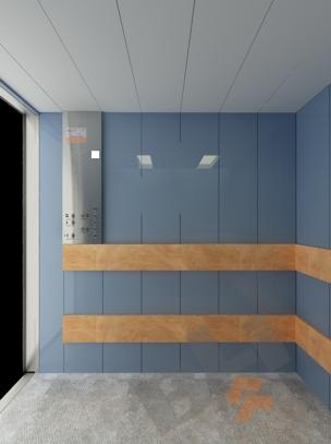 ... delle pareti interne. Soffitto in polivinilcloruro colore bianco